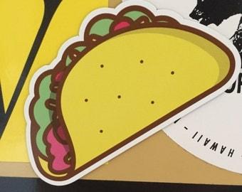 Die-cut Taco magnet