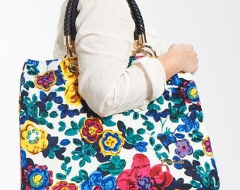 Large bag with floral cover