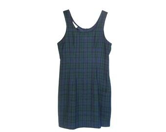 SALE 25% OFF - Vintage 90s Clueless Plaid Prep School Girl Mini Dress