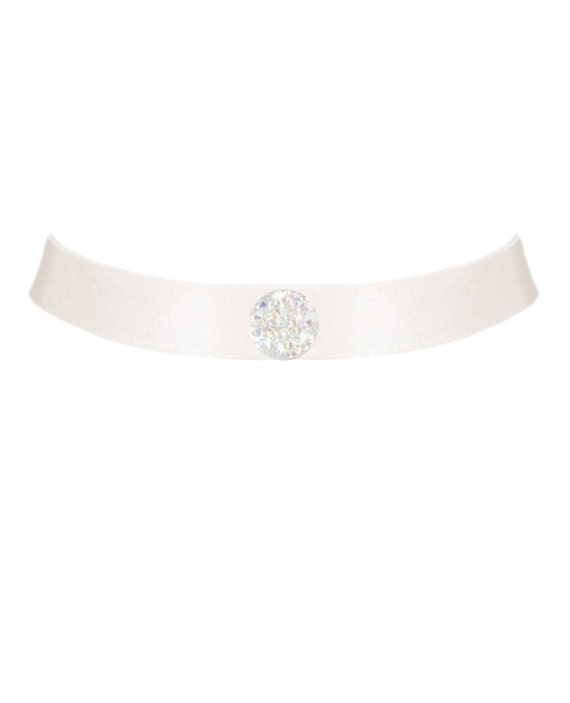 Handmade Silk-Adjustable Crystal Embellished Neck-piece, Choker, Made-to-Order/Bespoke/Custom UK