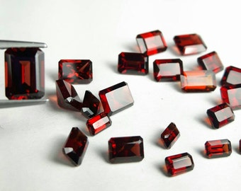 Natural Ox blood Garnet 5x3, 6x4, 7x5, 8x6