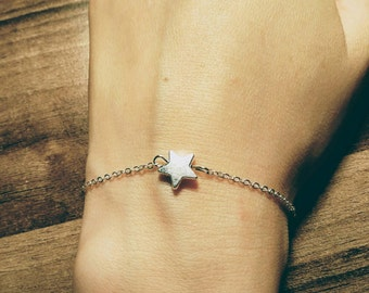 Star bracelet or anklet golden or silver colour