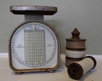 Found vintage Pelouze postal scale - chippy scale - farmhouse scale decor