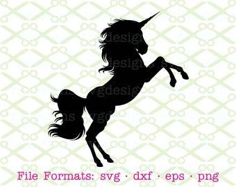 UNICORN SVG, Dxf, Eps, Png. Files for Cricut, Silhouette; Unicorn Silhouette, Unicorn Clipart, Unicorn Digital File, Instant Download Svg