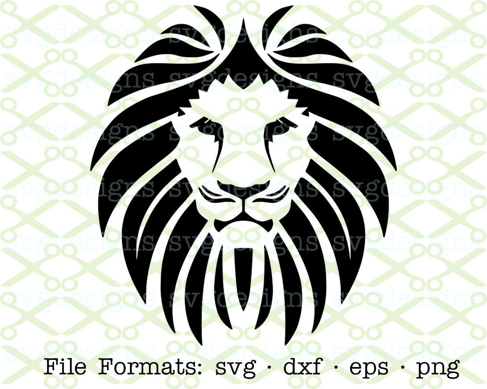 Download Lion SVG Dxf Eps & Png. Digital Cut Files for Cricut Lion