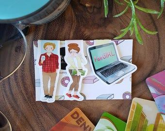 Fangirl Mini Magnetic Bookmark Set