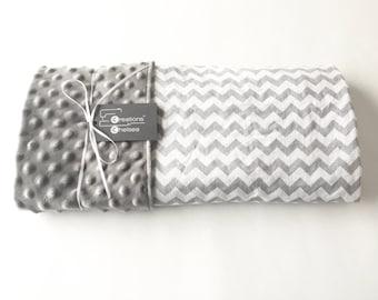 Grey Chevron Baby Blanket
