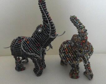 Elefant aus Massai-Perlen