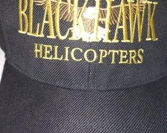 Vintage Black Hawk Helicopter Cap