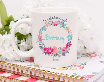 Custom Bridesmaid Mug,Bridesmaid Coffee Mug,Bridesmaid Coffee Mug,Bridesmaid Mug,Maid of Honor Mug,Custom Maid of Honor Mug,Bridesmaids Gift