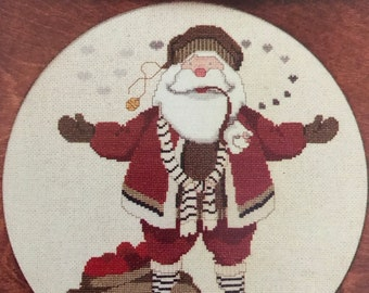 Vintage The Cricket Collection Saint K, Nicholas Claus counted cross stitch pattern No 21