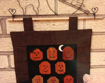 Sekas & Co Watercolour Jack-O-Lanterns counted cross stitch pattern