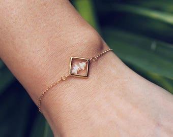 NIKA. Ethiopian Opal Bracelet in Gold