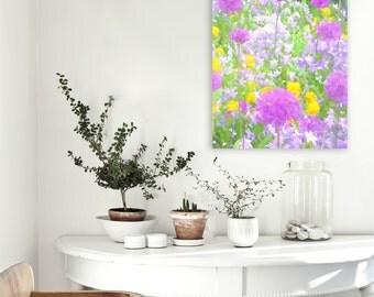 Floral Room Decor, Flower meadow print, Meadow Illustration, Sprint meadow, Meadow watercolor, English meadow, Housewarming flowers