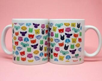 Mug animal colors//Bureo/gift//mug//Mug