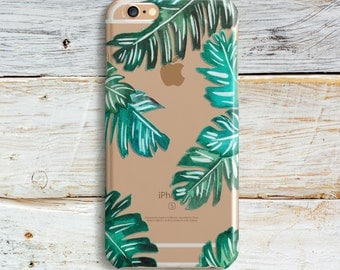 Palm Tree Case Silicone Case iPhone 7 Plus Case Crystal Clear iPhone SE Case iPhone 7 iPhone 6s Plus 5 5s 5c 4s Samsung Galaxy S6 S7