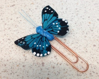 Gorgeous Blue Butterfly Planner Clip/Book mark.