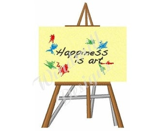 Happiness Is Art Painting - Machine Embroidery Design
