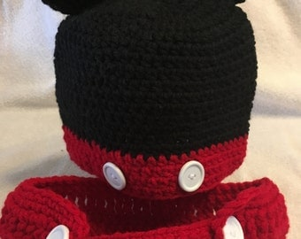 Mickey Mouse Diaper cover and Hat set