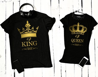 "T-shirt for couple ""King and Queen"""