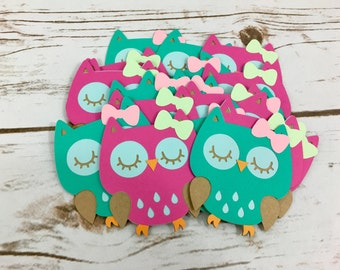 Owl Die Cuts, Owl Party, DIY, Owl Decors, Owl Birthday