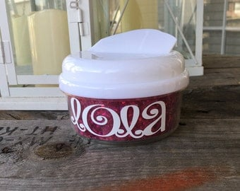 Kids monogrammed snack container