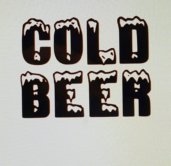 Cold Beer Decal Cold Beer Yeti Decal Cooler Decal Rtic