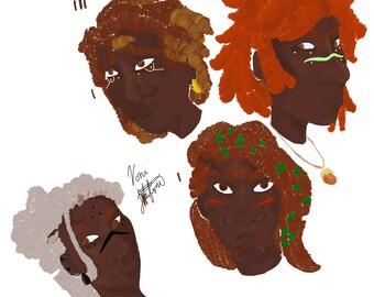 Headshots: Colored