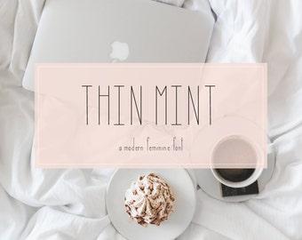Font Handlettered Sans Serif - Thin Mint: A Modern, Feminine Font