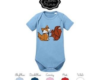 "Organic cotton short sleeve body ""Belina and Linus"""