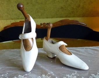 Wedding Shoes, antique shoes, Edwardian shoes, Bridal shoes, ca. 1910