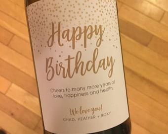 Birthday Wine Bottle Label