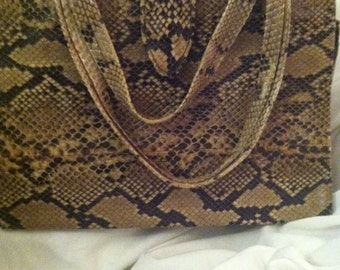 Vintage Python Purse Excellent Condition 1940s Genuine Python Snakeskin Couture Python Purse