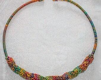 African twisted wire necklace