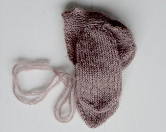 Newborn knitted hat, Newborn Prop; Photography Prop, Newborn bunny hat