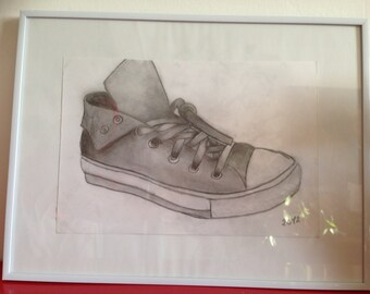 Converse, the timeless framed original drawing