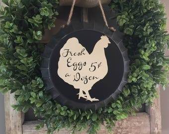 Fresh Eggs Sign - Chicken Sign - Chickens - Farm Sign - Farm Decor - Farmhouse Decor - Decor