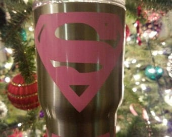 Super Mom Yeti Tumbler Rambler Cup Decal