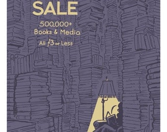52nd Annual Big Fall Book Sale 2016 poster for Friends of the San Francisco Public Library