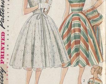 "1952 Sewing Pattern B29"" DRESS & REDINGOTE (R203) Simplicity 3897"