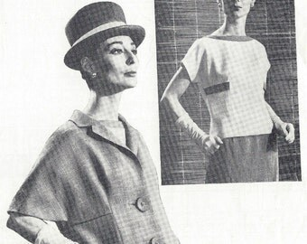 1960s Vintage Sewing Pattern B36 Skirt  Jacket Blouse  (1239) THE DAILY TELEGRAPH 68