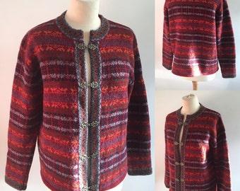 Vintage Nordic Cardigan - UK Size 16/US Size 12