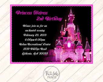 Pink Castle Birthday Invitation, Princess Castle Birthday Invitation, Castle Birthday Party Printable, Princess Birthday Party Invitation