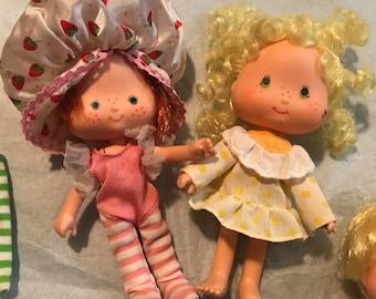 Vintage strawberry shortcake dolls - Strawberry Shortcake - vintage dolls - strawberry shortcake 1980's - strawberry shortcake babies - doll