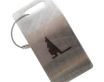 Wallaby Stainless Steel Luggage Tag