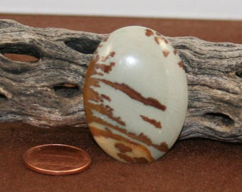 Vintage Oval Owyhee Picture Jasper 39 x 29 Cabochon (17)