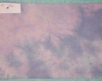 Hand Dyed Fabric for Cross Stitch 18 Ct Aida Blue Pink