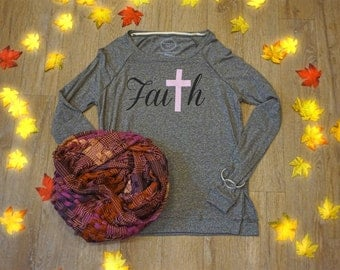 Faith sweatshirt> Pink cross > Breast Cancer > Christian apparel > Cross