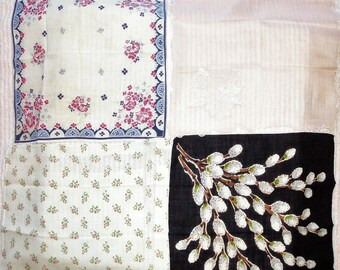 Lot of 4 different vintage handkerchief