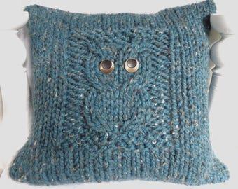 Teal Owl Cushion